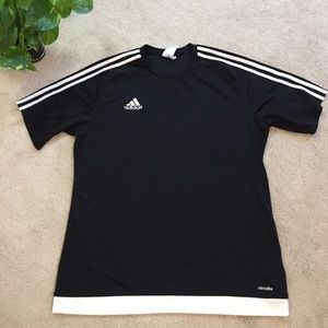 adidas | Black and white gym tee size Large